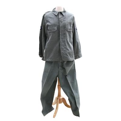 United States Air Force 1st Class Airman Vietnam War Work Uniform, Circa 1960