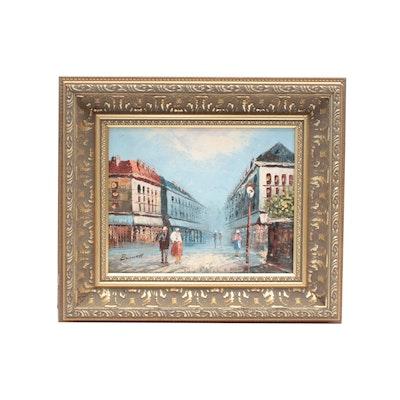 Caroline Burnett Cityscape Oil Painting