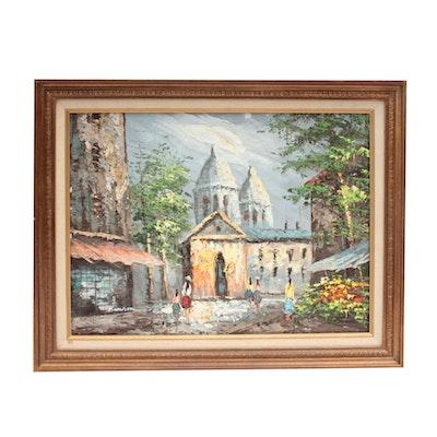 Oil Painting of European Scene