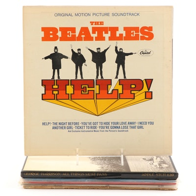 "Vintage Beatles and Members Records Featuring ""All Things Must Pass"", ""Help"""