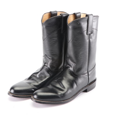 Women's Justin Black Spanish Kipskin Leather Western Boots