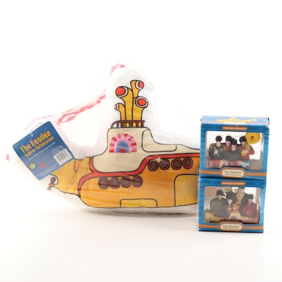 "Contemporary The Beatles ""Yellow Submarine"" Ornaments and Throw Pillow"