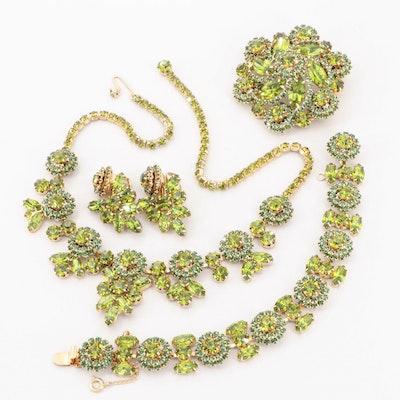 Vintage Weiss Rhinestone Jewelry Suite