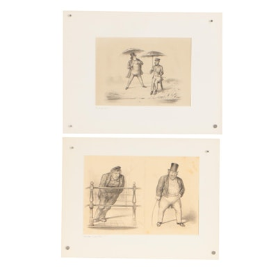 Late 19th Century Figural Lithographs