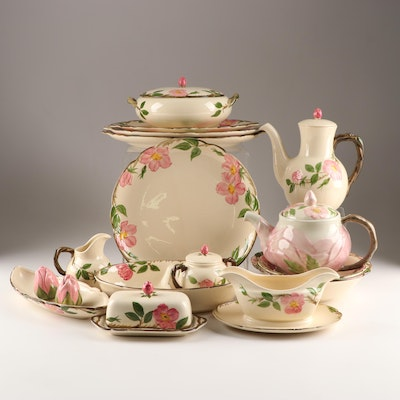 "Franciscan ""Desert Rose"" American Earthenware Serving Pieces"