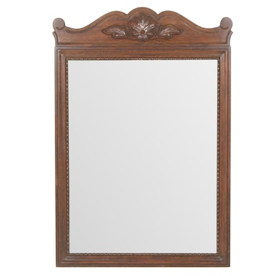 Davis Cabinet Company Oak Wall Mirror, Mid to Late 20th Century