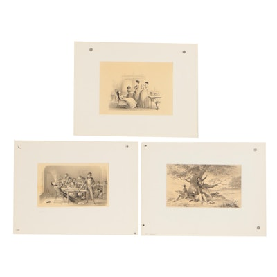 Late 19th Century Genre Lithographs