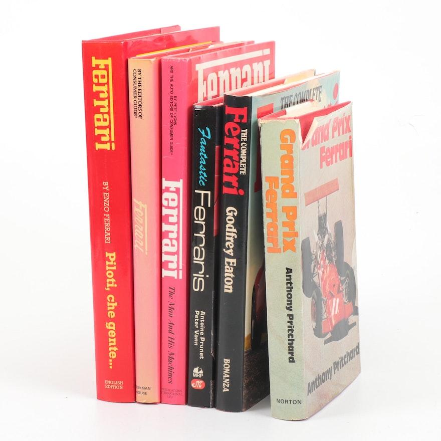 """Ferrari Coffee Table Books Including """"Grand Prix Ferrari"""""""