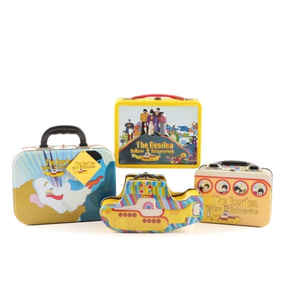 "Beatles Tin Totes and Lunchboxes Depicting ""The Yellow Submarine"""