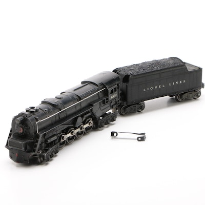 Lionel O Gauge 2020 Steam Locomotive and 6020W Tender Car, 1946-1949