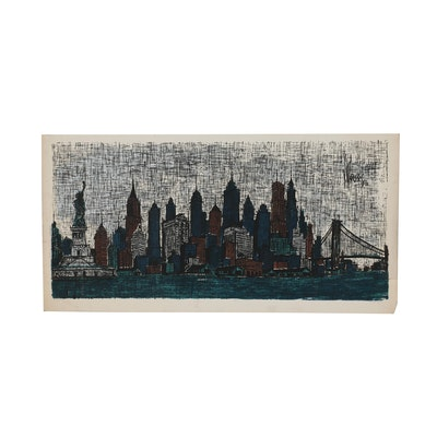 "Richard Sims Serigraph ""New York City"""