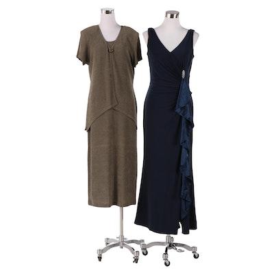 Lauren by Ralph Lauren Sleeveless Evening Dress and Sondra Dress Set