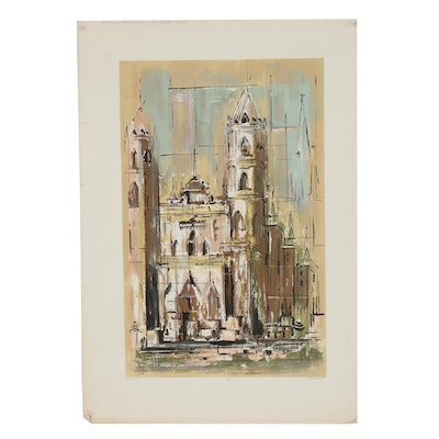 "Caballero Silk Screen Print ""Cathedral"""