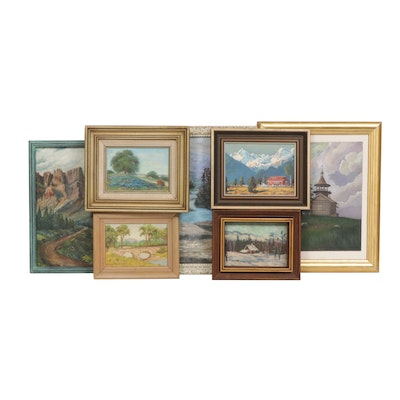 20th Century Landscape Oil Painting Collection