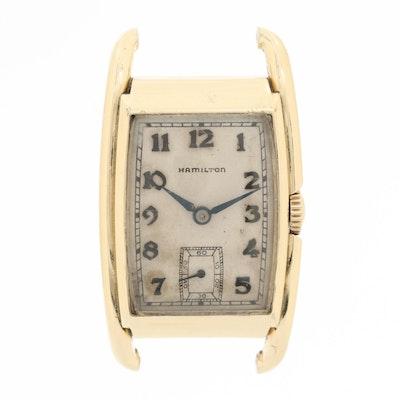 Vintage Hamilton 14K Gold Filled Stem Wind Watch