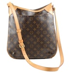 Louis Vuitton Paris Odeon MM Bag in Monogram Canvas and Leather