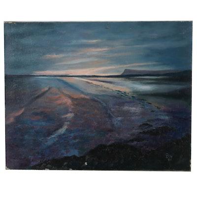Susan D. Weseli Seascape Oil Painting, 1984