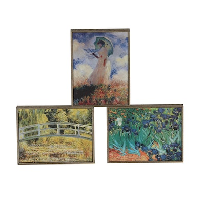 Impressionist Offset Lithographs after Van Gogh and Monet