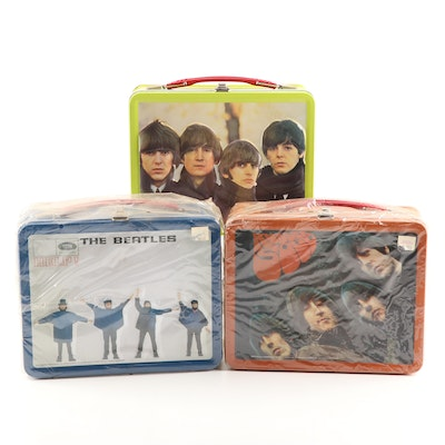 "Beatles Tin Lunchboxes Depicting ""Help"", ""Rubber Soul"", More"