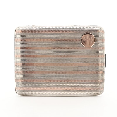 Elgin Vintage 14K Rose Gold on Sterling Cigarette Case