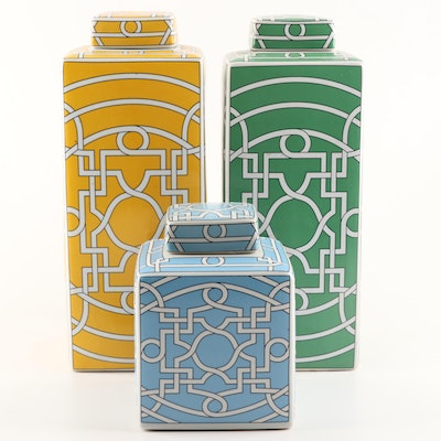 Contemporary Asian Inspired Lidded Vessels
