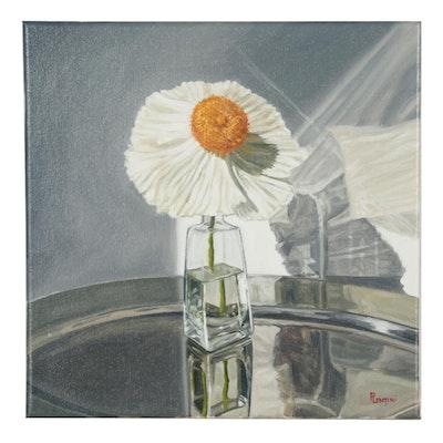 """Peter Lentini Oil Painting """"Basking"""""""