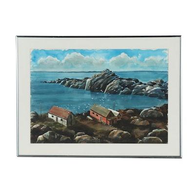 "Koski Seascape Watercolor Painting ""Nova Scotia"""