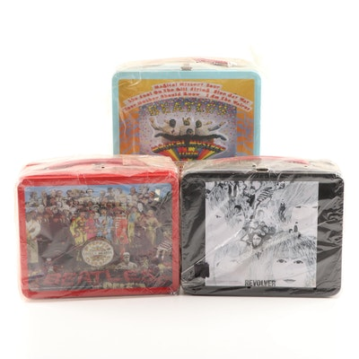 "Beatles Tin Lunchboxes Depicting "" Revolver"", ""Magical Mystery Tour"", More"