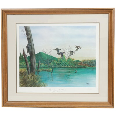 "Dave Constantine Offset Print ""Edge of Autumn Wood Ducks"""