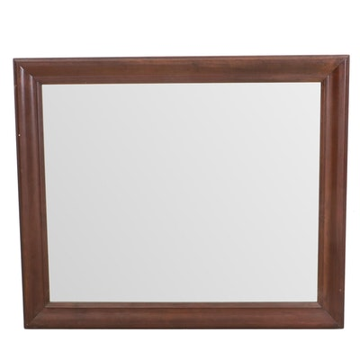 Transitional Style Cherry Mirror, Late 20th Century
