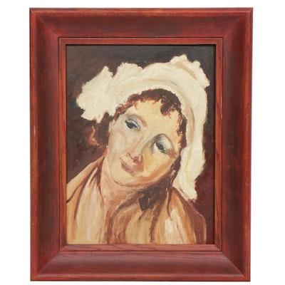Elizabeth Ryder Weiser Oil Painting, 1935