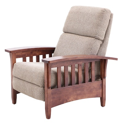 Berkline Arts and Crafts Style Wood Morris Recliner