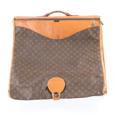 The French Co. Louis Vuitton Monogram Canvas and Leather Garment Bag, 1980s