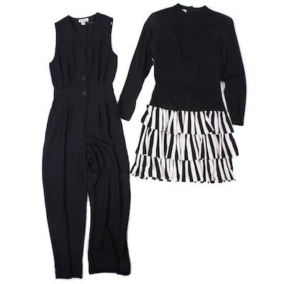 Ann Taylor Sleeveless Jumpsuit and Char Dress