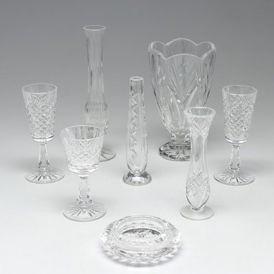 "Waterford Crystal Stemware and Vases in ""Kenmare"", ""Canterbury"" and More"
