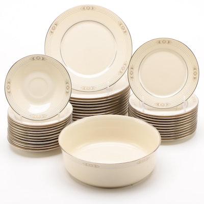 """Lenox """"Silver Springs"""" China Dinnerware, 1989 - 1993"""