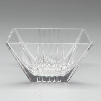 """Tiffany & Co. """"Metropolis"""" Crystal Square Bowl"""