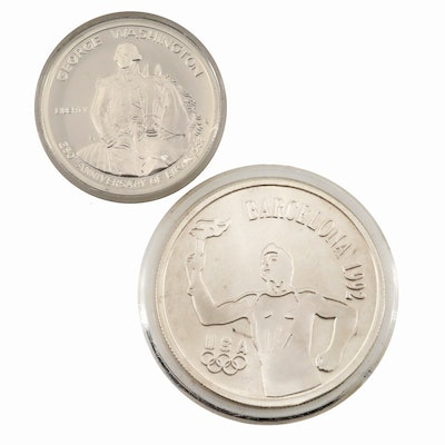 Two U.S. Commemorative Silver Coins