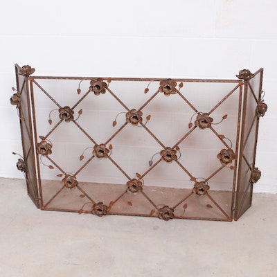 Fireplace Metal Screen, Mid to Late 20th Century