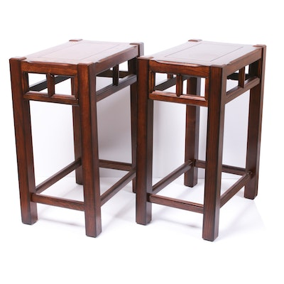 Pair of Contemporary Oak Side Tables