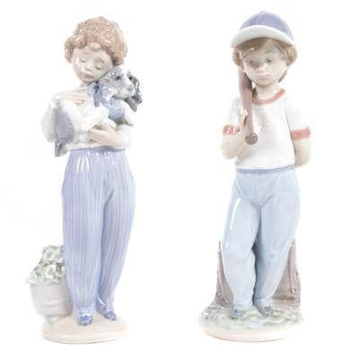 "Lladró ""My Buddy"" and ""Can I Play?"" Porcelain Figurine"