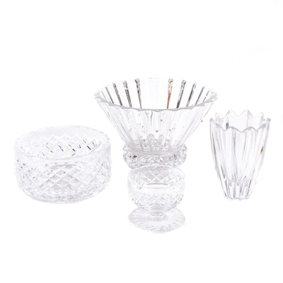 Orrefors, Waterford and Rosenthal Crystal Vases and Centerpieces