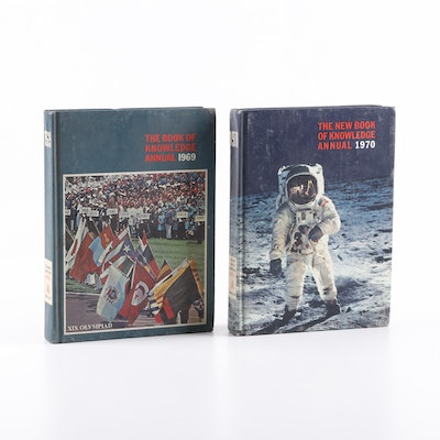 """1969 and 1970 """"The New Book of Knowledge"""" Annuals"""