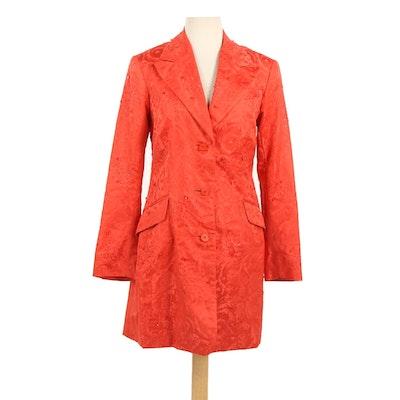 Catherine Regehr of Vancouver Embellished Silk Blazer, 1980s Vintage