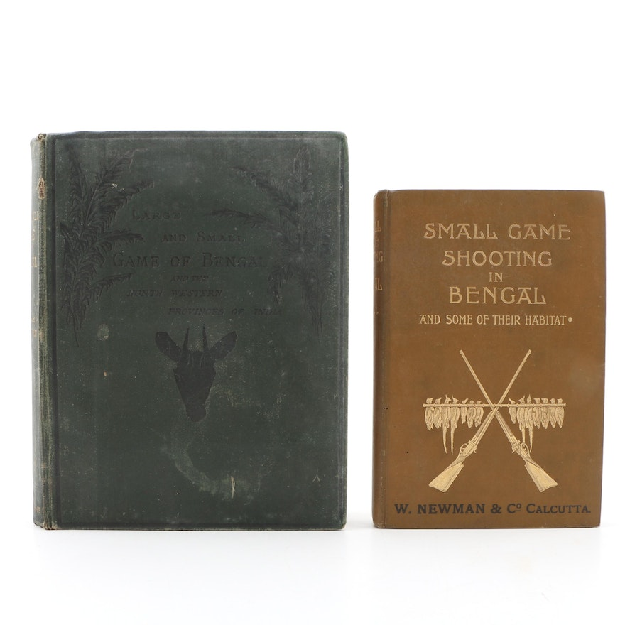 "Antique ""The Large and Small Game of Bengal"" and ""Small Game Shooting in Bengal"""