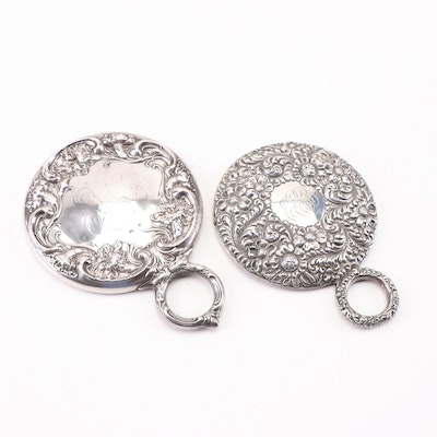 J. F. Fradley & Co and R. Wallace & Sons Sterling Silver Hand Mirrors