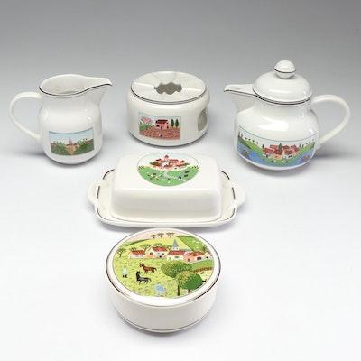 "Villeroy & Boch Porcelain ""Design Naif"" Tea Serveware"