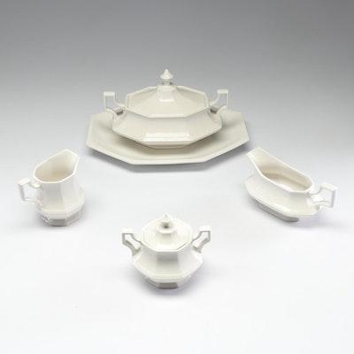Johnson Bros White Ceramic Serving Pieces