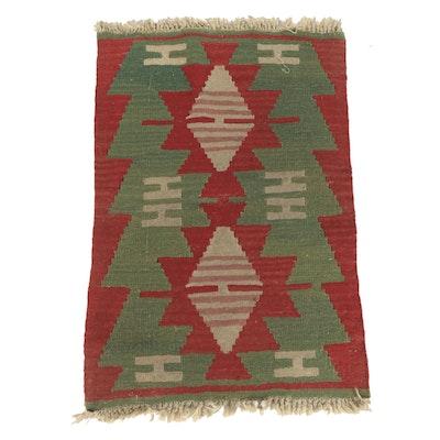 Handwoven Anatolian Wool Kilim Mat
