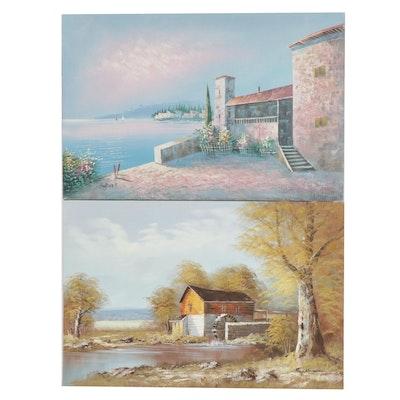 Burnett and Ray Alorman Landscape Oil Paintings